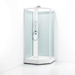Svedbergs Ritual Suihkukaappi Premium 81x91x218 Valkoinen Kirkas lasi
