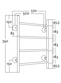 REJ Design Vesikiertoinen Tango BTH 50744 valkoinen