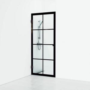 Svedbergs  180° Rista yksiovinen suihkuseinä kahden seinän väliin 78,5