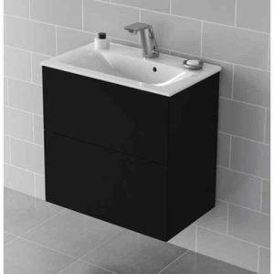 Allaskaappi IDO Elegant tasoaltaalle, kahdella laatikolla, Compact musta