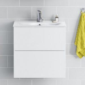 Allaskaappi IDO Elegant tasoaltaalle, kahdella laatikolla, Compact valkoinen